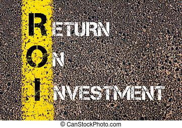 Acronym ROI - retorno de la inversión