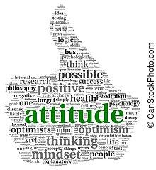 actitud, concepto, etiqueta, nube