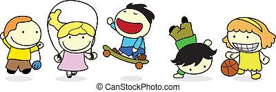Actividad de los niños felices