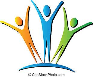 activo, logotipo, gente