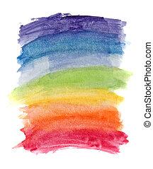 acuarela, arco irirs, resumen, colores, plano de fondo