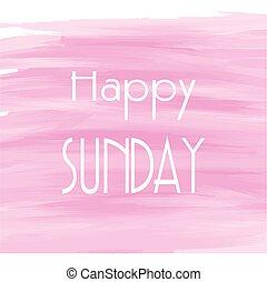 acuarela, plano de fondo, rosa, domingo, feliz
