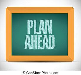 adelante, mensaje, diseño, plan, ilustración
