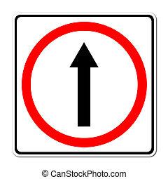 Adelante por el camino, signo de avance