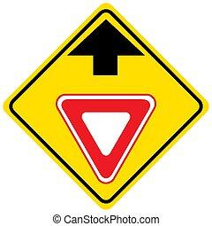adelante, tráfico, plano de fondo, señal, elasticidad, blanco, manera