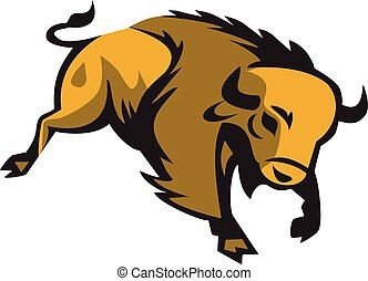 adeudo en cuenta, bisonte americano, retro
