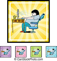 Adicto a la computadora