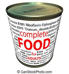 Aditivos de comida, números