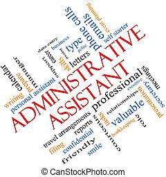 Administrativo Administrativo, concepto de nube en ángulo