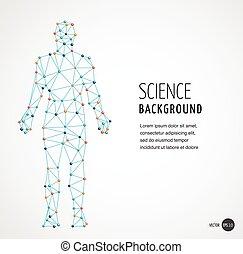 ADN, símbolo genético del hombre con estructura molecular de ADN