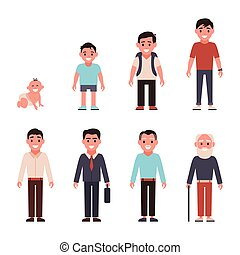 adolescencia, ages., gente, desarrollo, madurez, generaciones, etapas, edad, niñez, diferente, age., todos, infancia, categories, juventud, man., -, viejo