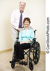 Adolescentes de negocios, discapacitados