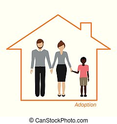 Adopción de una familia africana en una casa