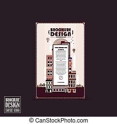 Adorable plantilla de folletos de la ciudad
