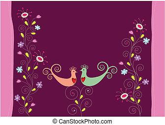 Adoran las aves y las flores