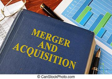 adquisición, título, fusión, libro