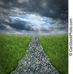 adversidad, conquistar