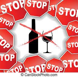 advertencia, alcohol