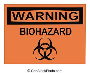 advertencia de biohazard, señal