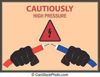 Advertencia de la electricidad del cartel