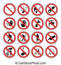 advertencia, salud, seguridad, peligro, y