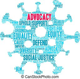advocacy, palabra, nube