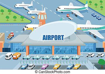 aeropuerto, exterior