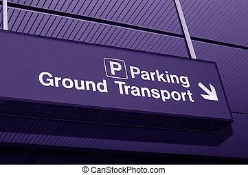 aeropuerto, señal