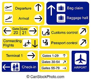 aeropuerto, señales