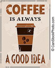 Afiche al estilo del café