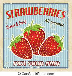 Afiche de fresas