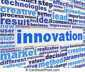 Afiche de Innovación diseño conceptual