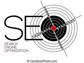 Afiche de optimización del motor de búsqueda