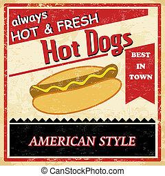 Afiche de perro caliente