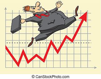 Afortunado inversor de bolsa