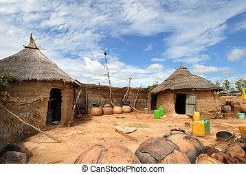 africano, aldea