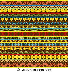 africano, patrón, multicolor, motivos, étnico