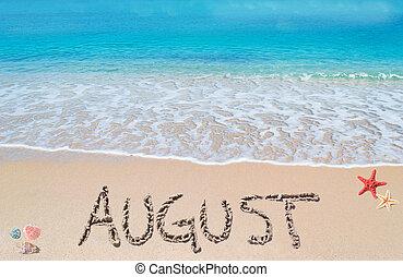 Agosto en una playa tropical