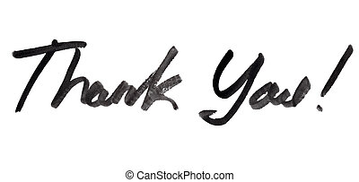 agradecer, manuscrito, inscripción, usted