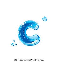 agua, c, -small, líquido, carta