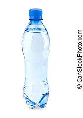 Agua carbonada en la botella