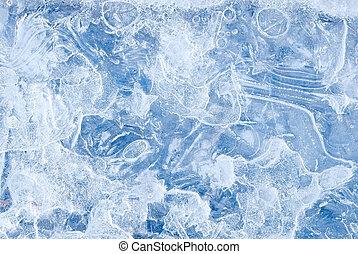 agua congelada, resumen, plano de fondo