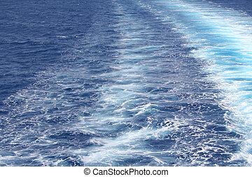 Agua de mar azul con onda como fondo