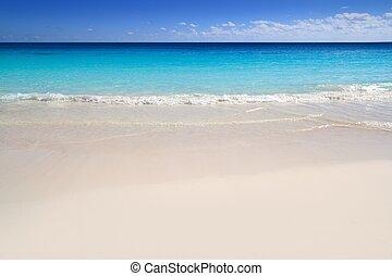 Agua del Caribe tropical de la playa