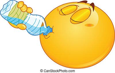 agua, emoticon, bebida