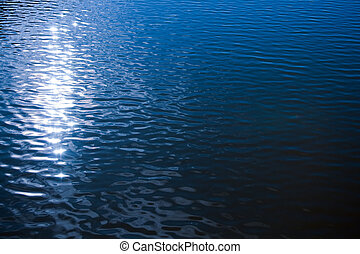 agua, ondulado, superficie
