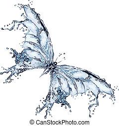 Agua salpica mariposa