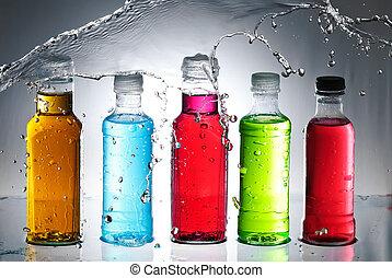 Agua salpicada de cristal