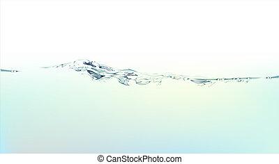 agua, salpicadura, líquido