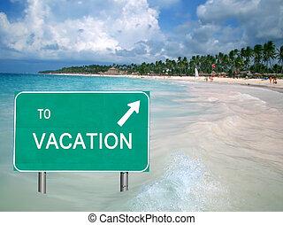 agua, vacaciones tropicales, señal